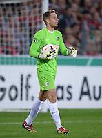 FUSSBALL   DFB POKAL 2. RUNDE   SAISON 2013/2014 SC Freiburg - VfB Stuttgart      25.09.2013 Torwart Oliver Baumann (SC Freiburg) mit Ball
