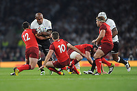 Nemani Nadolo of Fiji is tackled by Brad Barritt of England during Match 1 of the Rugby World Cup 2015 between England and Fiji - 18/09/2015 - Twickenham Stadium, London <br /> Mandatory Credit: Rob Munro/Stewart Communications
