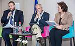 "BRUSSELS - BELGIUM - 24 November 2016 -- European Training Foundation (ETF) Conference on ""GETTING ORGANISED FOR BETTER QUALIFICATIONS"" - concluding remarks. -- Karol Jakubík, Main State Advisor - Unit of Vocational Education and Training Ministry of Education, Science, Research and Sport of Slovak Republic; Jordi Curell Gotor, Director Dir D, Labour Mobility - DG Employment  Social Affairs and Inclusion and Madlen Serban, Director ETF. -- PHOTO: Juha ROININEN / EUP-IMAGES"