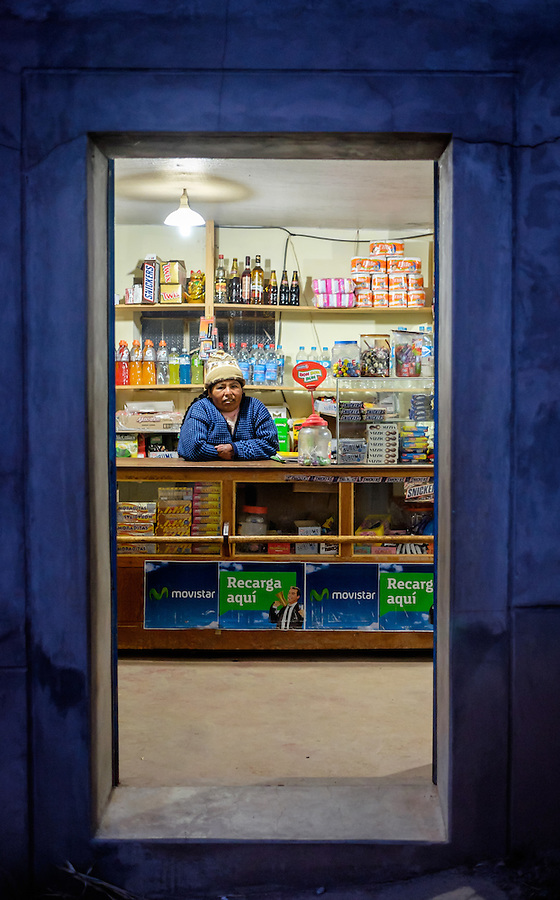 AMANTANI ISLAND, PERU - CIRCA APRIL 2014: Small grocery store in the Island of Amantani
