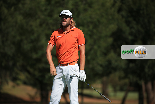 Johan Carlsson (SWE)  in action during the completion of Round Two of the 2016 BMW SA Open hosted by City of Ekurhuleni, played at the Glendower Golf Club, Gauteng, Johannesburg, South Africa.  09/01/2016. Picture: Golffile | David Lloyd<br /> <br /> All photos usage must carry mandatory copyright credit (&copy; Golffile | David Lloyd)