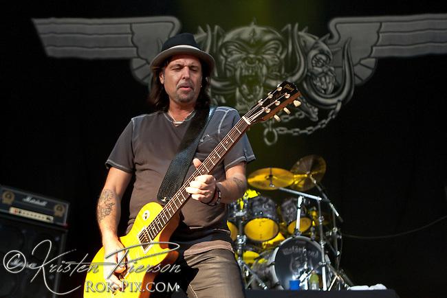Motorhead perform at the Rockstar Mayhem Festival in Mansfield, Massachusetts, August 3, 2012