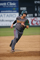 Danny Edgeworthy (17) of the Boise Hawks runs the bases during a game against the Everett AquaSox at Everett Memorial Stadium on July 20, 2017 in Everett, Washington. Everett defeated Boise, 13-11. (Larry Goren/Four Seam Images)