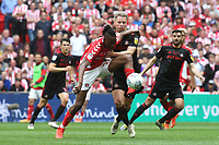 Joe Aribo of Charlton controls the ball under pressure from Sunderland's Grant Leadbitter during Charlton Athletic vs Sunderland AFC, Sky Bet EFL League 1 Play-Off Final Football at Wembley Stadium on 26th May 2019