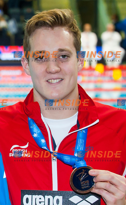 WILLIS Andrew GBR bronze medal<br /> Men's 200m breaststroke final<br /> Netanya, Israel, Wingate Institute<br /> LEN European Short Course Swimming Championships  Dec. 2 - 6, 2015 Day02 Dec. 3nd<br /> Nuoto Campionati Europei di nuoto in vasca corta<br /> Photo Insidefoto