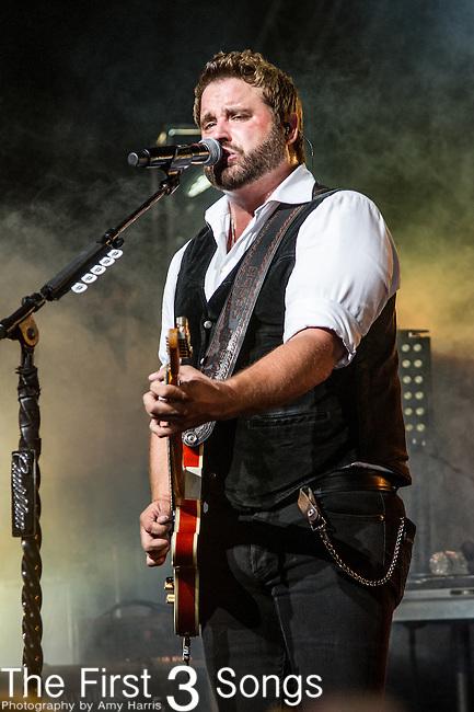 Randy Houser performs at Riverbend Music Center in Cincinnati, Ohio.