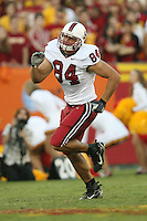 6 October 2007: Austin Gunder during Stanford's 24-23 win over the #1 ranked USC Trojans in the Los Angeles Coliseum in Los Angeles, CA.