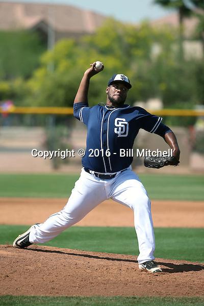 Jordan Guerrero - San Diego Padres 2016 spring training (Bill Mitchell)
