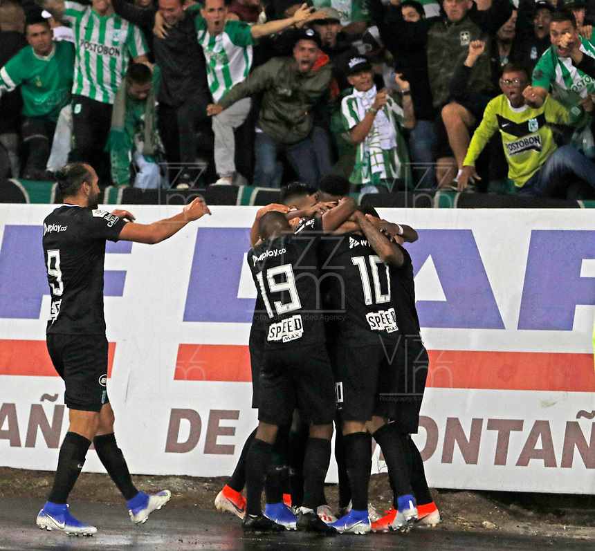 MANIZALES - COLOMBIA, 13-07-2019: Vladimir Hernández jugador del Atlético Nacional celebra después de anotar un gol al Once Caldas  durante partido por la fecha 1 Liga Águila II 2019 jugado en el estadio Palogrande de la ciudad de Manizales. / Vladimir Hernandez player of Atletico Nacional celebrates after scorin a goal agaisnt of Once Caldas  during the match for the firts  date of Liga Aguila II 2019 played at the Palogrande Stadium in Manizales city. Photo: VizzorImage / Santiago Osorio / Contribuidor