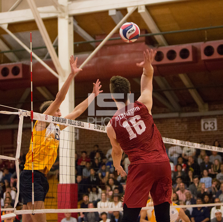 STANFORD, CA - March 10, 2018: Matt Klassen at Burnham Pavilion. The Stanford Cardinal lost to UC Irvine, 3-0.