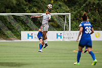 Seattle, WA - Sunday, August 13, 2017: Jessica McDonald during a regular season National Women's Soccer League (NWSL) match between the Seattle Reign FC and the North Carolina Courage at Memorial Stadium.