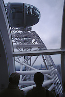 View from London Eye over Tourists' Shoulders