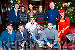 Staff of CBS the Green enjoying their Christmas party in Benners Hotel on Friday.<br /> Kneeling l to r: Anto Cronin, Conor Sheehan, Daithi Griffin, Dale Counihan and Mark O'Shea.<br /> Standing l to r: Sean Óg O'Ciardubhain, Helen Hayes, Barbara O'Connor, Catriona Kelliher, Mark Ryle and Ellen McGillicuddy.