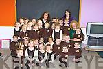 SOS: Pupils on their day at Gaeil Scoil Mhic Easmainn on Monday having their sos
