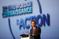 Montreal (QC) CANADA - April 2012 File Photo - <br /> Dr Yuan-Tse LEE, President International Council for Science<br />   speak at - IPY (International Polar Year) 2012 conference held at Montreal Convention Centre -