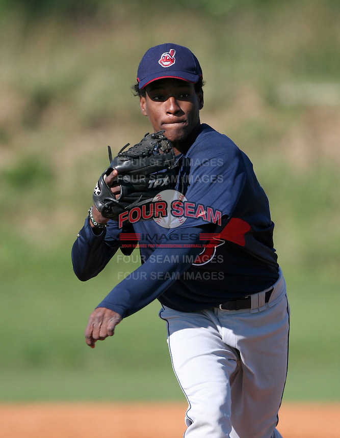 Cleveland Indians minor leaguer Candido Jesus during Spring Training at the Chain of Lakes Complex on March 17, 2007 in Winter Haven, Florida.  (Mike Janes/Four Seam Images)