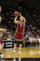 25 March 2006: Krista Rappahahn during Stanford's 88-74 win over the Oklahoma Sooners during the NCAA Women's Basketball tournament in San Antonio, TX.