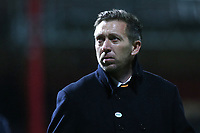 Barnet Manager, Darren Currie, has one last look at the Barnet fans as he walks towards the dressing room at the end of the march during Brentford vs Barnet, Emirates FA Cup Football at Griffin Park on 5th February 2019