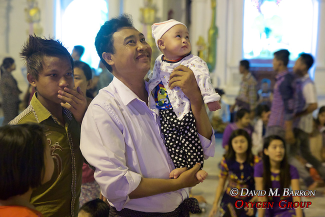 Man and Daughter, Festival Of The Moon, Shwedagon Pagoda