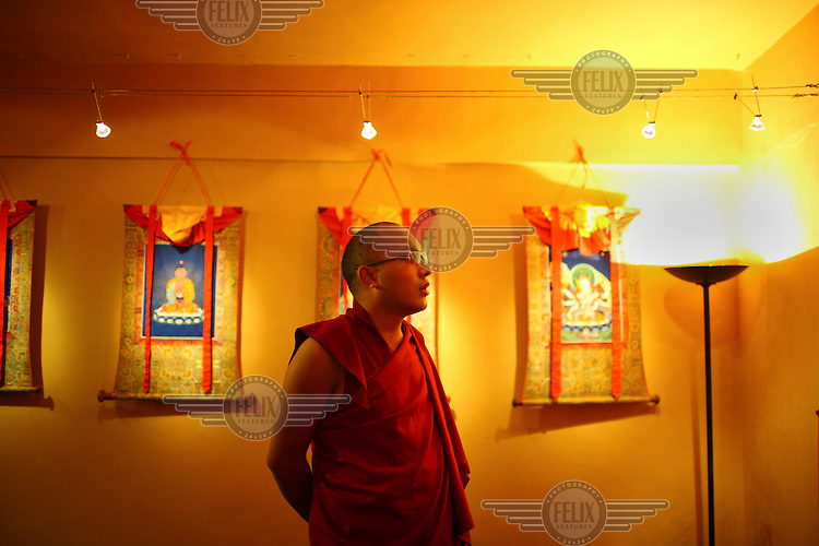 The Seventeenth Karmapa, Ogyen Drodul Trinley Dorje, visits the Norbulingka Tibetan Cultural Institute, Dharamsala. In 1992 a 7-year-old Tibetan nomad, Apo Gaga, was recognised as the Seventeenth Karmapa and went to live in Tolung Tsurphu Monastery, the historic seat of the Karmapas. He escaped Tibet for India at the turn of the millennium in order to continue without interference the primary role of the Karmapa, preserving and propagating the Buddhist teachings of Tibet.