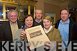Pictured at the launch of the Mangerton View Reunion in The Royal Hotel were Sean Moriarty, Eibhlin Moriarty Henggeler, Peter O'Grady, Anne Moriarty O'Shea and Padraig Sexton...