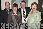 Pictured at the Glenlara social in The Brehon, Killarney, on Saturday night were John and Noreen O'Connell with Tony and Joan O'Keeffe.