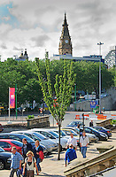 Trees in an urban environment, Liverpool...Copyright..John Eveson, Dinkling Green Farm, Whitewell, Clitheroe, Lancashire. BB7 3BN.01995 61280. 07973 482705.j.r.eveson@btinternet.com.www.johneveson.com