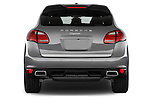 Straight rear view of a 2014 Porsche Cayenne Platinum Edition 5 Door SUV Rear View  stock images