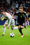 Lucas Biglia of Argentina (R) in action against Iago Aspas of Spain (L) during the International Friendly 2018 match between Spain and Argentina at Wanda Metropolitano Stadium on 27 March 2018 in Madrid, Spain. Photo by Diego Souto / Power Sport Images