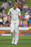 NZ bowler Kyle Jamieson during day one of the International Test Cricket match between the New Zealand Black Caps and India at the Basin Reserve in Wellington, New Zealand on Friday, 21 February 2020. Photo: Dave Lintott / lintottphoto.co.nz