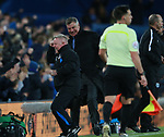 Sammy Lee and Sam Allardyce manager of Everton celebrate the second goal during the premier league match at the Goodison Park Stadium, Liverpool. Picture date 2nd December 2017. Picture credit should read: Simon Bellis/Sportimage
