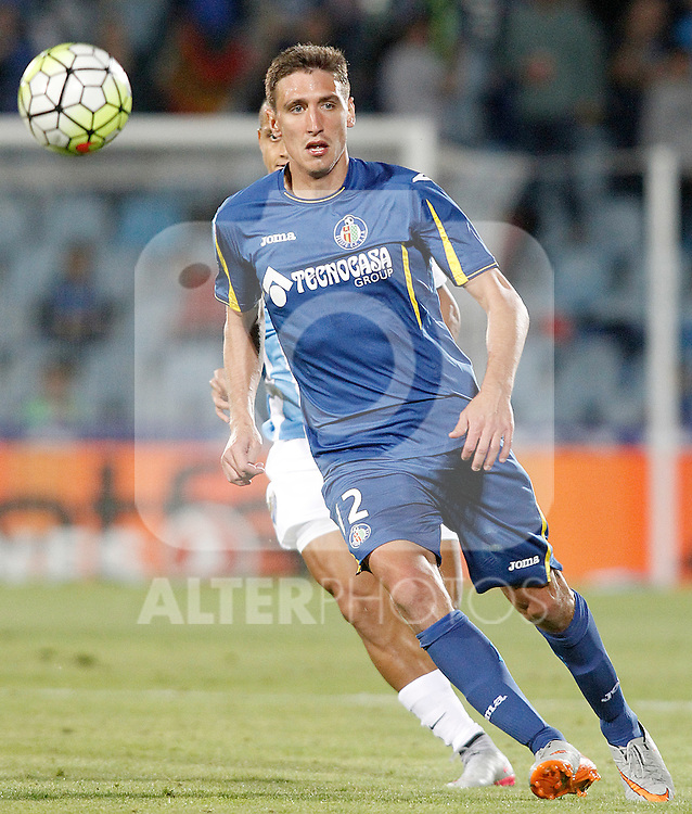 Getafe's Stefan Scepovic during La Liga match.September 18,2015. (ALTERPHOTOS/Acero)