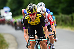 The peloton led by the Panzer Wagon himself Tony Martin (GER) Team Jumbo-Visma during Stage 7 of the 2019 Tour de France running 230km from Belfort to Chalon-sur-Saone, France. 12th July 2019.<br /> Picture: ASO/Alex Broadway | Cyclefile<br /> All photos usage must carry mandatory copyright credit (© Cyclefile | ASO/Alex Broadway)