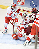 Brandon Yip, John Curry, Matt Greene - The Boston College Eagles defeated the Boston University Terriers 5-0 on Saturday, March 25, 2006, in the Northeast Regional Final at the DCU Center in Worcester, MA.