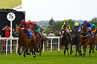 Winner of The Lascar Ruby Anniversary Handicap, `scorching ridden by Joshua Bryan and trained by Andrew Balding during Afternoon Racing at Salisbury Racecourse on 18th May 2017
