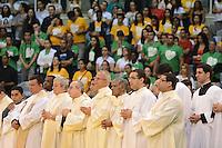 RIO DE JANEIRO, RJ, 28 JULHO 2012 - JMJ2013-PREPARAI O CAMINHO- Evento Preparai o Caminho,no maracanazinho, inicio da preparacao para a Jornada Mundial da Juventude-JMJ2013,no Rio de Janeiro, neste sabado dia 28, maracana, zona norte do rio.(FOTO: MARCELO FONSECA / BRAZIL PHOTO PRESS).