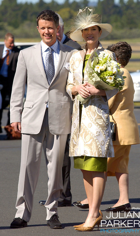Crown Prince Frederik & Crown Princess Mary of Denmark visit Australia..Arriving at Hobart Airport in Tasmania..