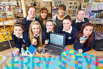Pupils from Presentation Secondary School Tralee, who  presented their animation to Minister for Arts in Dublin at the weekend, were front l-r: Lara Perry, Eve Roche, Sophie O'Sullivan, Shannon Leahy and Shauna Brosnan. Back l-r: Becky O'Sullivan, Lillie O'Sullivan, Sheila Pontillo (teacher) and Kayleigh Fitzmaurice..