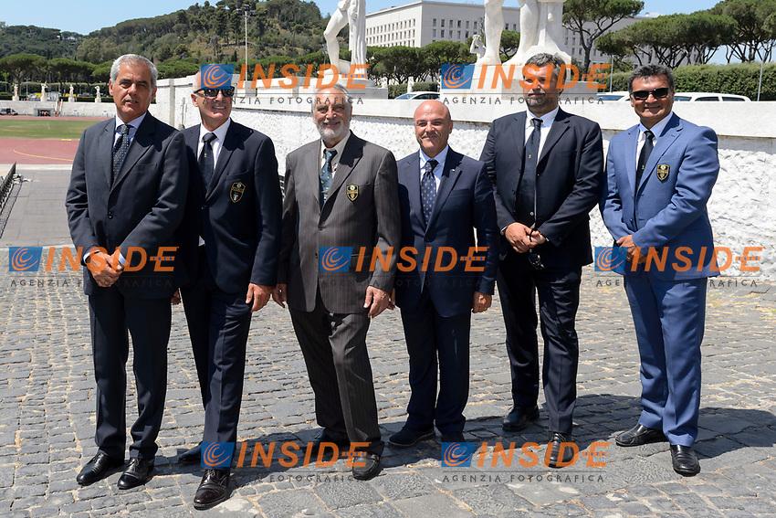Comitato Organizzatore <br /> Roma 22-06-2017 Coni Salone d'onore <br /> Conferenza stampa di presentazione della finale Coppa del mondo tiro con l'arco <br /> Foto Andrea Staccioli / Insidefoto / Fitarco