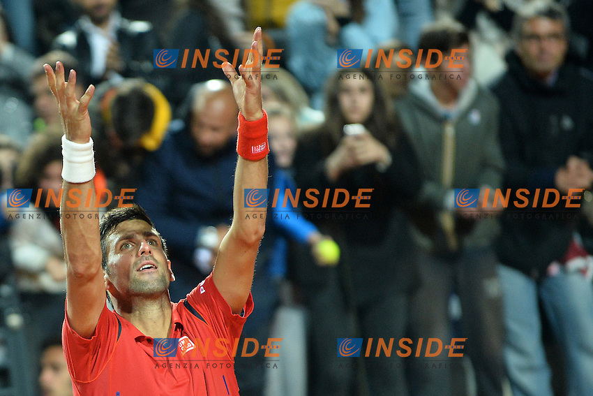 Novak Djokovic (SRB)<br /> Roma 14-05-2016  Foro Italico<br /> Internazionali BNL d'Italia, Men Semifinal,<br /> Tennis ATP<br /> Foto Antonietta Baldassarre / Insidefoto