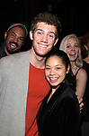 "Nicholas Christopher, Alistair Brammer, Eva Noblezada and Katie Rose Clarke during The Opening Night Actors' Equity Gypsy Robe Ceremony honoring Catherine Ricafort for the New Broadway Production of  ""Miss Saigon""  at the Broadway Theatre on March 23, 2017 in New York City"