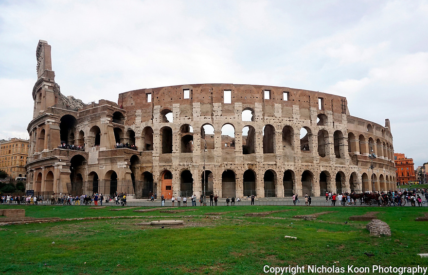 The exterior of the Coliseum in Rome is a must see for visitors of Rome.  Built almost 2,000 years ago and the home of Gladiator games during the Roman empire.