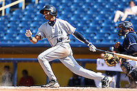 West Michigan Whitecaps shortstop Dixon Machado #13 during the second game of a double header against the Lake County Captains at Classic Park on May 30, 2011 in Eastlake, Ohio.  Lake County defeated West Michigan 4-3.  Photo By Mike Janes/Four Seam Images