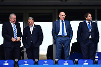 (L-R) President of World Rugby Bill Beaumont, CEO of World Rugby Brett Gosper, president of the French Rugby Federation (FFR) Bernard Laporte and vice president of the French Rugby Federation Serge Simon before the RBS Six Nations match between France and England at Stade de France on March 10, 2018 in Paris, France. (Photo by Dave Winter/Icon Sport)