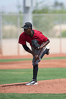 Arizona Diamondbacks starting pitcher Wilfry Cruz (11) follows through on his delivery during an Extended Spring Training game against the Cleveland Indians at the Cleveland Indians Training Complex on May 27, 2018 in Goodyear, Arizona. (Zachary Lucy/Four Seam Images)