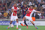 21.10.2014 Barcelona, Spain. UEFA Champions League matchday 3 Group 3. Picture show  Pedro (L) and Joel Veltman (R) in action during game between FC Barcelona against Ajax at Camp Nou