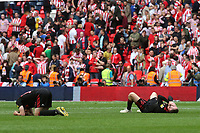 Sunderland react at the final whistle after losing the Play-Off Final to a last minute goal during Charlton Athletic vs Sunderland AFC, Sky Bet EFL League 1 Play-Off Final Football at Wembley Stadium on 26th May 2019
