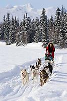 Dave Tresino on trail @ Finger Lake near Finger Lake Chkpt 2006 Iditarod Sled Dog Race Alaska Winter