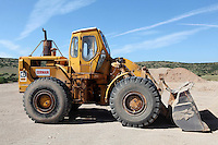 Pictured: A Caterpillar 966 digger, similar to the one driven by Konstantinos Barkas when Ben Needham disappeared from in Kos, Greece. STOCK PICTURE<br />