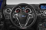 Car pictures of steering wheel view of  a 2014 Ford FIESTA ST MT 2WD 3 Door Hatchback 2WD Steering Wheel